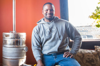 Chris Montana, co-founder and co-owner of Du Nord Craft Spirits in South Minneapolis // Photo by Kevin Kramer