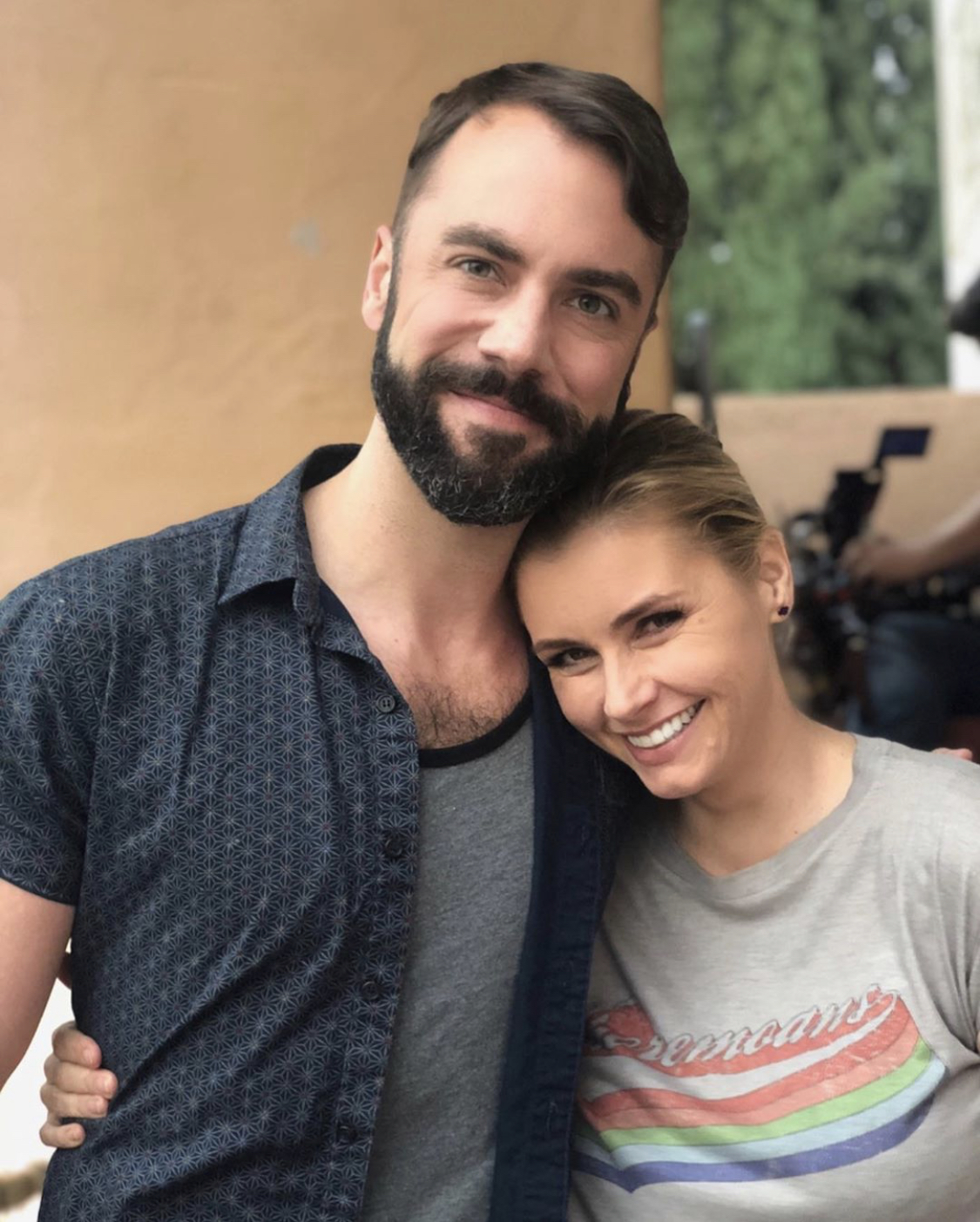 """EastSiders"" co-creator John Halbach and co-star Brianna Brown, who plays one of Halbach's on-screen girlfriends // Photo courtesy John Hallbach"